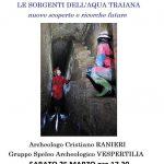 conferenza di Cristiano Ranieri del gruppo speleo archeologico Vespertilia