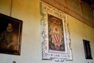 Lo stemma Orsini nella Sala degli Orsini nel castello di Bracciano