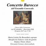 Locandina del Concerto Barocco dell'Ensemble Convocalis a Bracciano