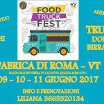 Locandina del Food Truck Fest 2017 a Fabrica di Roma