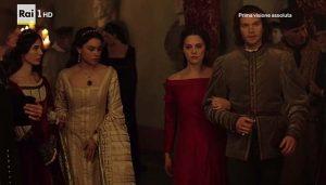 """""""I Medici"""" s01e05: Contessina arriva alla festa a casa di Andrea Pazzi"""