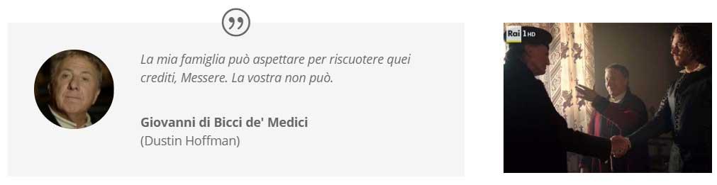 """""""I Medici"""" s01e02: Madden, Hofman e Bradley nella sala del trittico"""