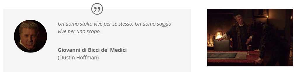 """""""I Medici"""": Dustin Hoffman e Richard Madden nella sala del trittico"""