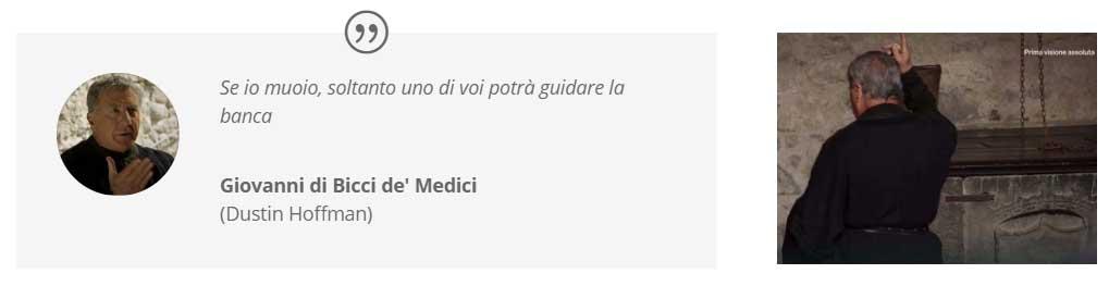I Medici location: il pozzo del castello di Bracciano