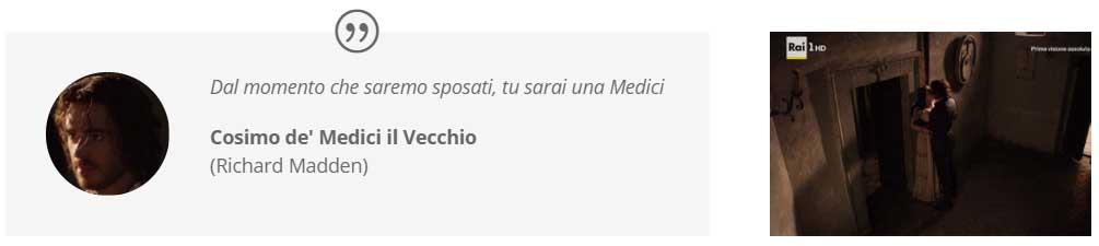 """""""I Medici: Masters of Florence"""" s01e02 primo bacio tra Cosimo e Contessina"""