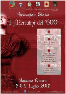 locandina de I Mercatini del 1600 a Bassano Romano
