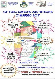 locandina della scampagnata del 1° maggio a Manziana