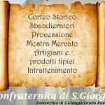 locandina della festa del santo patrono di Oriolo Romano
