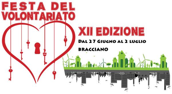 logo della XII Festa del volontariato di Bracciano 2017