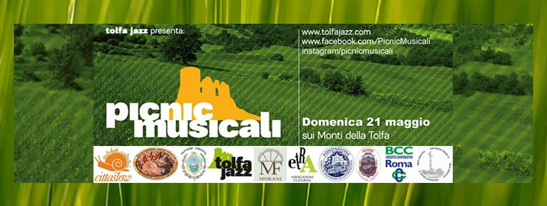 locandina dei Picnic musicali a Tolfa domenica 21 maggio 2017
