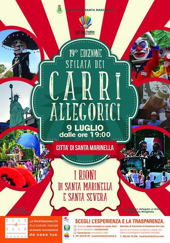 locandina del carnevale estivo di Santa Marinella 2017