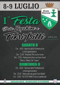 locandina della Festa delle zucchine e dei fiori fritti 2017 by Rione Stazione