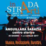 locandina del festival di artisti di strada di Anguillara Sabazia