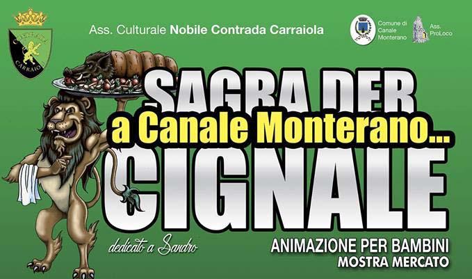 la sagra del cinghiale organizzata dalla contrada Carraiola di Canale Monterano