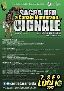 programma della sagra del cinghiale 2017 a Canale Monterano