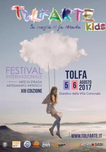 locandina del Tolfarte Kids 2017, spazio dedicato ai più piccoli