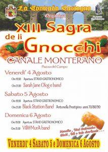 locandina della sagra degli gnocchi 2017 a Canale Monterano