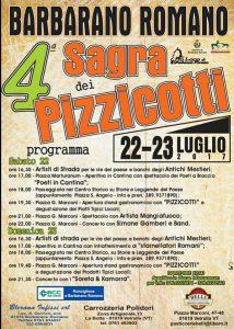 locandina della Sagra dei pizzicotti 2017 a Barbarano Romano