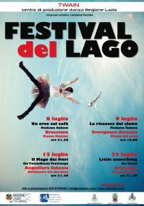 locandina del Festival del lago a Bracciano, Anguillara e Trevignano