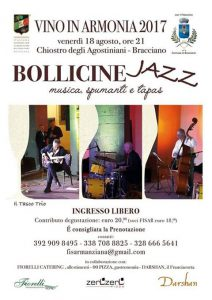 locandina di Bollicine Jazz 2017 Bracciano