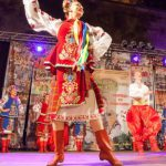 esibizione durante il festival del folklore di Bracciano