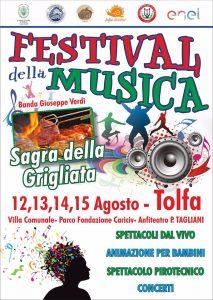 locandina del Festival della Musica 2017 Tolfa