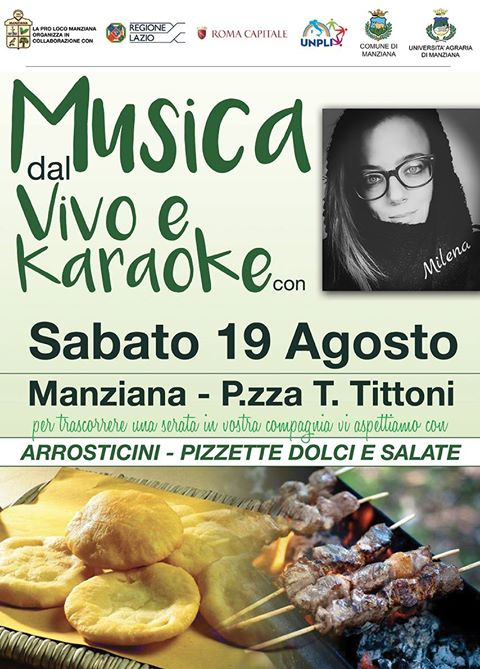 Serata in compagnia di Milena con karaoke, arrosticini e pizzette a Manziana