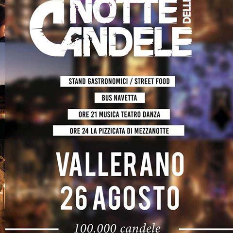 la notte delle candele è a Vallerano il 26 agosto 2017