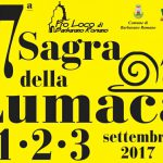 manifesto della sagra della lumaca 2017 a Barbarano Romano