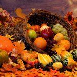 frutta, uva, funghi, tartufo, castagne nel cesto