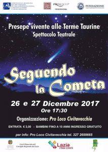 locandina del Presepe Vivente nelle Terme di Traiano a Civitavecchia per Natale 2017