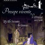 locandina del presepe vivente per Natale 2017 a Vetralla