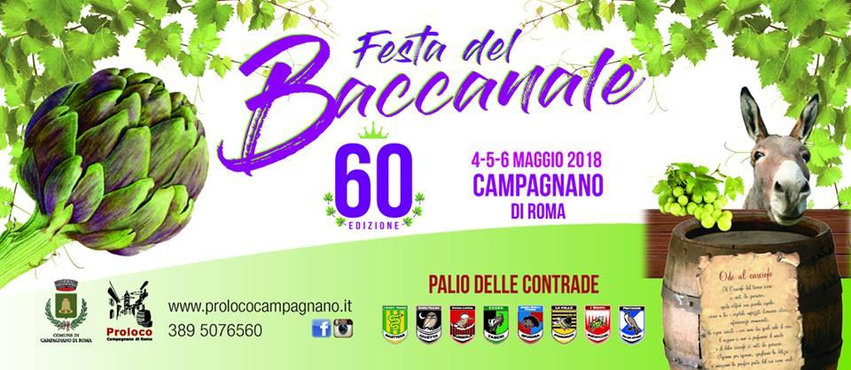 banner della Festa del Baccanale di Campagnano edizione 2018
