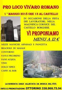 1°maggio nel castello di Vivaro Romano