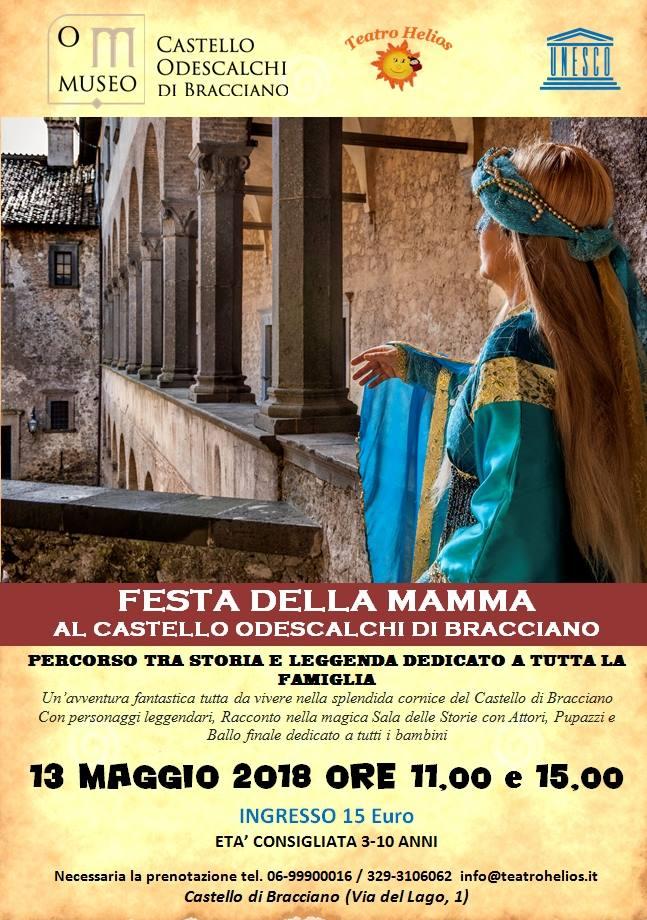 visita spettacolo al castello di Bracciano del 13 maggio 2018