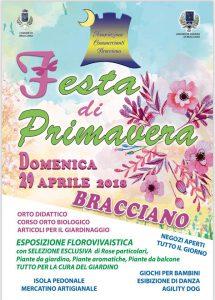 manifesto della Festa di Primavera 2018 Bracciano