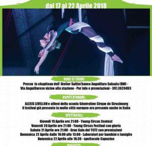 programma del Festival del circo 2018 Anguillara Sabazia