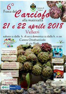 sagra del carciofo alla matticella 2018 a Velletri