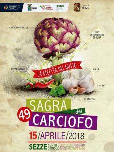 manifesto della Sagra del carciofo 2018 Sezze