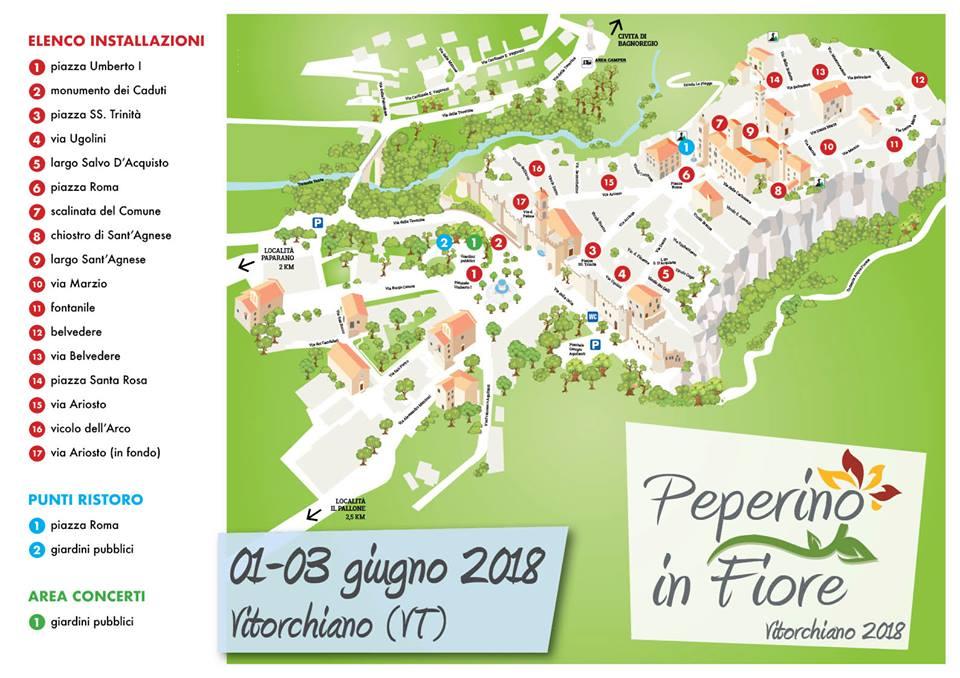 Mappa di Peperino in fiore 2018