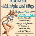 manifesto del mercatino a Santa Severa con il Bagatto