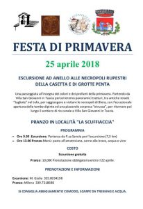 Festa di primavera 2018 a Villa San Giovanni in Tuscia: programma