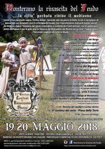 Programma della festa medievale di Monterano 2018