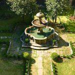 Madonna della Quercia, il giardino con la fontana