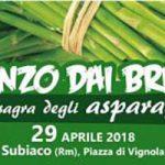 sagra degli asparagi di Subiaco 2018