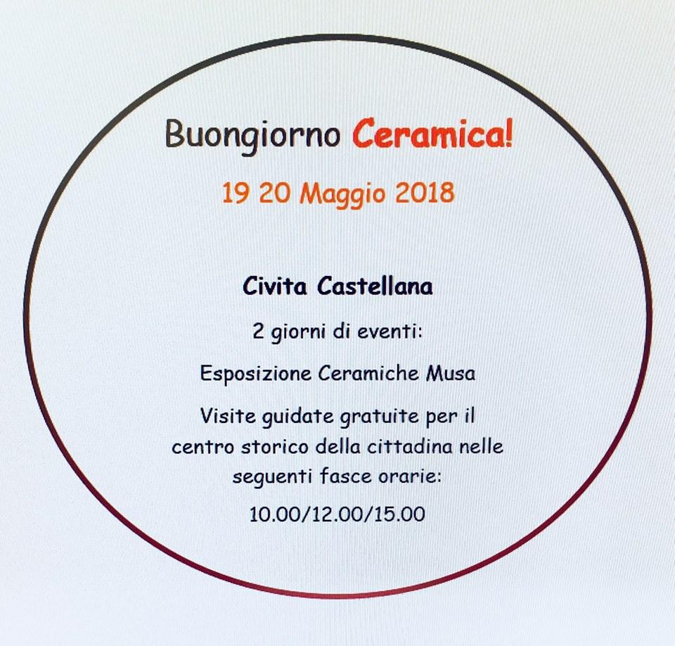 programma di Buongiorno ceramica 2018 a Civita Castellana