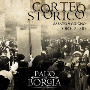 Il corte storico del Palio dei Borgia 2018 a Nepi