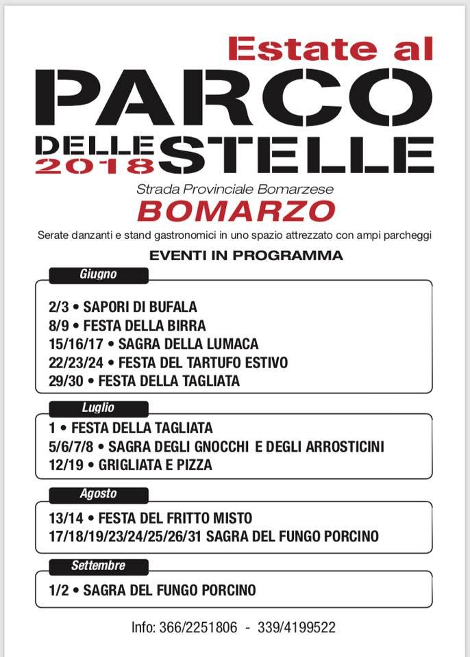 feste e sagre al parco delle stelle di Bomarzo nel 2018