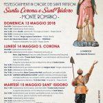 programma della festa di Santa Corona e Sant'Isidoro 2018 a Monte Romano