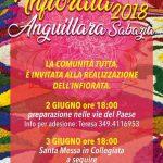 Infiorata a Anguillara Sabazia 2018 per il Corpus Domini